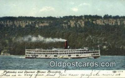 shi009698 - Palisades And Steamer Homer Ramsdell Steam Ship Postcard Post Cards