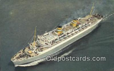 shi009708 - SS Nieuw Amsterdam Steam Ship Postcard Post Cards