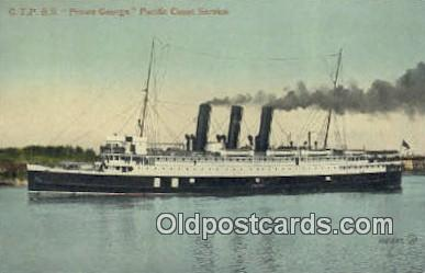 shi009711 - GTPSS Prince George Steam Ship Postcard Post Cards