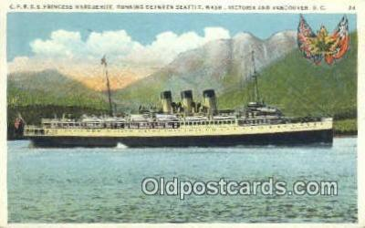 shi009712 - CPRSS Princess Marguerite, Seattle, Washington, WA USA Steam Ship Postcard Post Cards