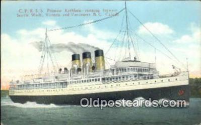 shi009713 - CPRSS Princess Kathleen, Vancouver, British Columbia, BC  Steam Ship Postcard Post Cards