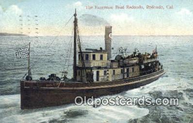 shi009715 - The Excursion Boat Redondo, Redondo, California, CA USA Steam Ship Postcard Post Cards