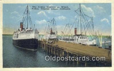 shi009717 - The Avalon Steamer At Wharf, Avalon, Catalina Island, California, CA USA Steam Ship Postcard Post Cards