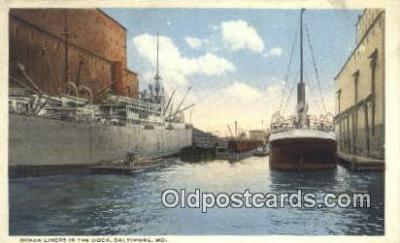 shi009734 - Ocean Liners In The Dock, Baltimore, Maryland, MD USA Steam Ship Postcard Post Cards