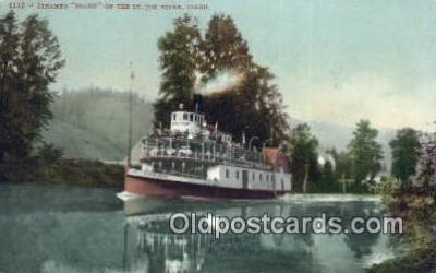 shi009746 - Steamer Idaho, St Joe River, Idaho, ID USA Steam Ship Postcard Post Cards