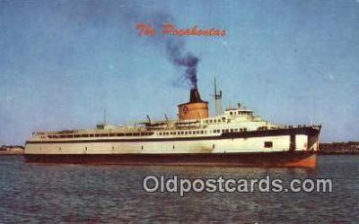 shi009754 - SS Pocahontas Automobile And Passenger Transport, Cape Charles, Norfolk, Virginia, VA USA Steam Ship Postcard Post Cards