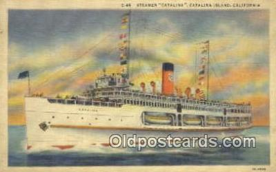 shi009756 - Steamer Catalina, Catalina Island, California, CA USA Steam Ship Postcard Post Cards