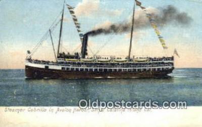 shi009762 - Steamer Cabrillo in Avalon Harbor, Catalina Island, California, CA USA Steam Ship Postcard Post Cards