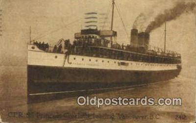 shi009763 - CPR SS Princess Charlotte, Vancouver, British Columbia, BC Steam Ship Postcard Post Cards