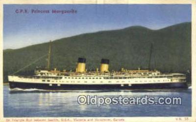 shi009766 - CPR Princess Marguerite, Vancouver, Canada Steam Ship Postcard Post Cards