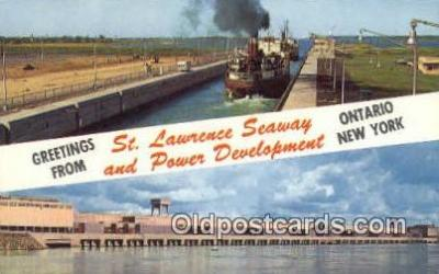 shi009781 - St Lawrence Seaway,  Eisenhower Lock, Canada Steam Ship Postcard Post Card