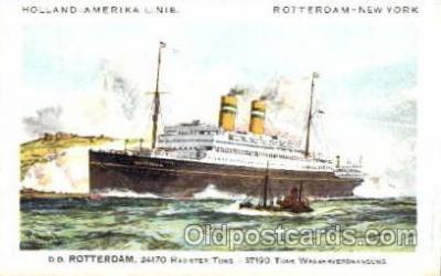 shi010003 - Holland - American Cruise Lines<br><br>Rotterdam postcard postcards