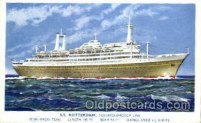 shi010026 - S.S. Rotterdam, Holland - America Line Postcard Postcards