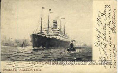shi010029 - T.S.S. New Amsterdam, Holland - America Line Postcard Postcards