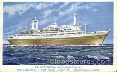 shi010032 - S.S. Rotterdam, Holland - America Line Postcard Postcards