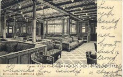 shi010037 - First Class Smoke Room, Holland - America Line Postcard Postcards