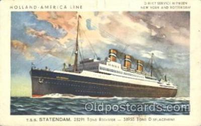 shi010067 - S.S.Statendam Holland - American Line, Lines, Liner, Ship Ships Postcard Postcards