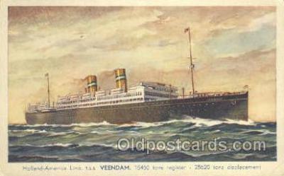 shi010080 - TSS Veendam Holland - America Line, Steamer, Steam Boat, Ship Ships, Postcard Postcards