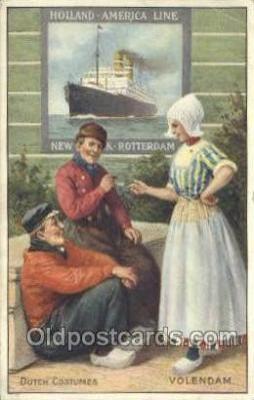 shi010084 - Volendam Holland - America Line, Steamer, Steam Boat, Ship Ships, Postcard Postcards
