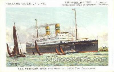 shi010100 - TSS Veendam Holland - America Line, Steamer, Steam Boat, Ship Ships, Postcard Postcards