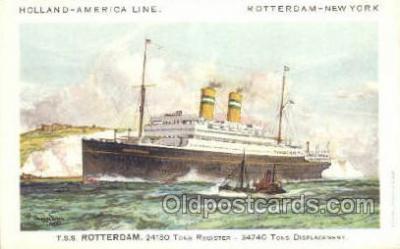 shi010104 - TSS Rotterdam Holland - America Line, Steamer, Steam Boat, Ship Ships, Postcard Postcards
