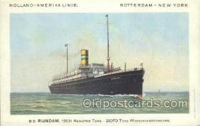 shi010106 - TSS Veendam Holland - America Line, Steamer, Steam Boat, Ship Ships, Postcard Postcards