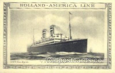 shi010120 - TSS Veendam Holland - America Line, Steamer, Steam Boat, Ship Ships, Postcard Postcards