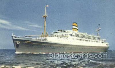 shi010123 - SS Ryndam Holland - America Line, Steamer, Steam Boat, Ship Ships, Postcard Postcards