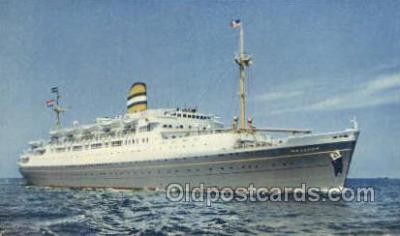 shi010136 - SS Maasdam Holland - America Line, Steamer, Steam Boat, Ship Ships, Postcard Postcards