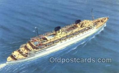shi010149 - SS Queen Frederica National Hellenic Line, Steamer, Steam Boat, Ship Ships, Postcard Postcards