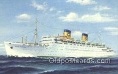 shi010150 - SS Queen Frederica National Hellenic Line, Steamer, Steam Boat, Ship Ships, Postcard Postcards