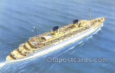shi010152 - SS Queen Frederica National Hellenic Line, Steamer, Steam Boat, Ship Ships, Postcard Postcards