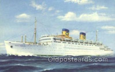 shi010154 - SS Queen Frederica National Hellenic Line, Steamer, Steam Boat, Ship Ships, Postcard Postcards