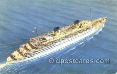 shi010155 - SS Queen Frederica National Hellenic Line, Steamer, Steam Boat, Ship Ships, Postcard Postcards