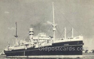 shi010160 - SS Edam Holland - America Line, Steamer, Steam Boat, Ship Ships, Postcard Postcards