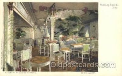 shi011055 - Kaiserin Auguste Victoria Wintergarten Hamburg America Line, Lines, Ocean Liner, Ship Ships Postcard Postcards