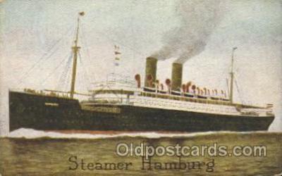 shi011077 - Steamer Hamburg, Hamburg America Line, Lines, Ocean Liner, Ship Ships Postcard Postcards