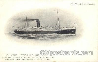 shi012017 - S.S. Arapahoe Clyde Shipping Co. LTD. Ship Ships Postcard Postcards