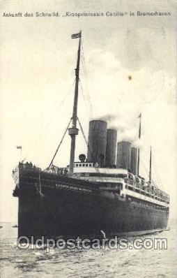 shi014031 - Kronprinzessin Cecilie North German Lloyd, Ship Ships Postcard Postcards
