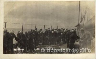 shi015023 - U.S.S. Frederick Military Ship Real Photo Ships Postcard Postcards