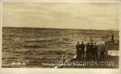 shi015031 - U.S.S. Frederick Military Ship Real Photo Ships Postcard Postcards