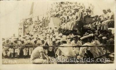shi015032 - U.S.S. Frederick Military Ship Real Photo Ships Postcard Postcards