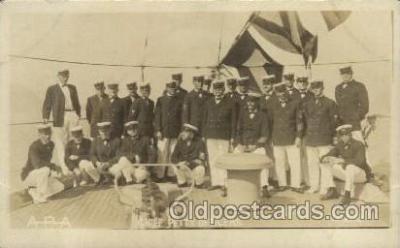 shi015033 - U.S.S. Frederick Military Ship Real Photo Ships Postcard Postcards