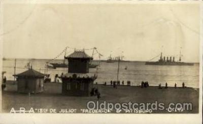 shi015039 - U.S.S. Frederick & Piisburg Military Ship Real Photo Ships Postcard Postcards