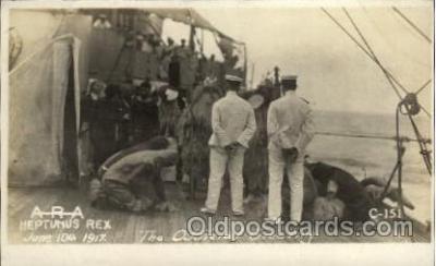 shi015040 - U.S.S. Frederick Military Ship Real Photo Ships Postcard Postcards