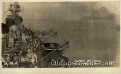 shi015044 - U.S.S. Frederick Military Ship Real Photo Ships Postcard Postcards