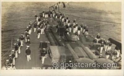 shi015045 - U.S.S. Frederick Military Ship Real Photo Ships Postcard Postcards