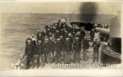 shi015046 - U.S.S. Frederick Military Ship Real Photo Ships Postcard Postcards