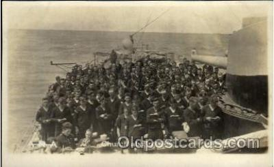 shi015048 - U.S.S. Frederick Military Ship Real Photo Ships Postcard Postcards
