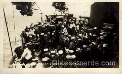 shi015053 - U.S.S. Frederick Military Ship Real Photo Ships Postcard Postcards